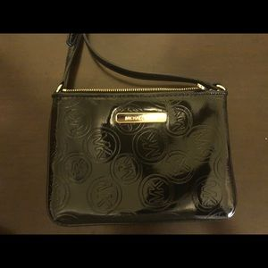 MK Patent Leather Crossbody Bag